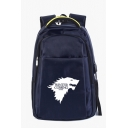Stylish Winter Is Coming Wolf Head Printed USB Charge Unisex Bag Backpack 36*16*50cm