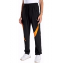 Men's New Fashion Colorblock Pattern Outdoor Quick-drying Straight Track Pants