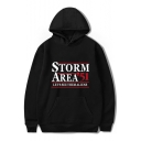 New Popular Letter Storm Area Long Sleeve Casual Relaxed Fit Hoodie