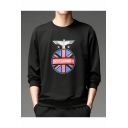 Popular Fashion Eagle Letter BOY LONDFN Graphic Printed Round Neck Long Sleeve Mens Trendy Pullover Sweatshirts