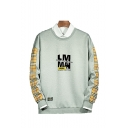 Hot Fashion Letter Plaid Printed Round Neck Long Sleeve Casual Sports Sweatshirts