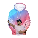 The Rapper Figure Printed Long Sleeve Loose Fit Casual Pullover Hoodie