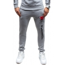 Men's New Fashion Graphic Printed Casual Relaxed Fit Sports Sweatpants