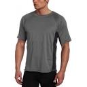 Shorts Sleeve Round Neck Patch Basic Mens T Shirt