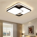 Acrylic Ultra Thin Ceiling Lamp with Square Modern Chic LED Surface Mount Ceiling Light for Study Room