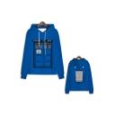 Hot Popular Police Box Printed Drawstring Hooded Long Sleeve Unisex Blue Casual Hoodie