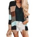 Womens Casual Strip Print Drop Sleeve Open Front Chenille Cardigan with Pockets