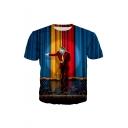 Summer Hot Fashion 3D Clown Print Short Sleeve Round Neck Casual T-Shirt For Men
