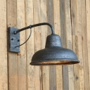 Gooseneck Wall Lights Artison Rustic Industrial Metal 1 Bulb Sconce Wall Light for Hall