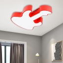 Acrylic Guitar Flush Mount Ceiling Light Modern Colorful Integrated Led Ceiling Lamp