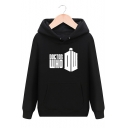 Unisex Sports Casual DOCTOR WHO Letter Printed Long Sleeve Hoodie