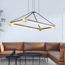 Modern Rectangle Ceiling Pendant Light Acrylic Integrated Led Indoor Lighting for Dining Room