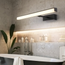 Silver/Black LED Wall Light Fixtures Modern Metal Acrylic Sconce Wall Lamps for Bedroom Bathroom