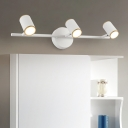 Modern Black/White Sconce Wall Lights Acrylic Metal 3 Heads Wall Mounted Light with Warm/White Lighting for Bathroom