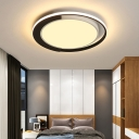 Round Led Surface Mount Ceiling Light Modern Simple White Flush Mount Lighting with Diffuser