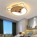 Integrated Led Dog Flush Lighting Cartoon Acrylic Led Flush Mount Light for Play Room