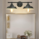 2 Heads Barn Sconce Light Fixture Loft Industrial Iron Wall Light Sconce for Bathroom