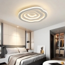 White Cloud Ceiling Light Mount Fixture Nordic Style Metallic LED Indoor Lighting for Bedroom