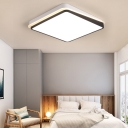 Square/Rectangle Ceiling Light Fixture with Frosted Diffuser Integrated Led Modern Flush Mount Light