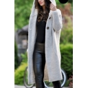 Hot Popular  Plain Long Sleeve  Maxi Cardigan in Loose Fit For Women
