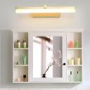 Linear Wall Sconce Light Minimalist Metal Led Bathroom Vanity Light with Diffuser