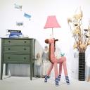 Unicorn Floor Lamp Modern Simple Fabric and Resin 1 Head Night Light for Living Room, Kids Children Bedroom