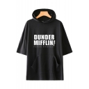 Dunder Mifflin Popular Letter Printed Short Sleeve Hooded Unisex T-Shirt