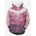 Fashion Pink 3D Printed Long Sleeve Casual Sport Pullover Hoodie