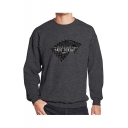 New Fashion Long Sleeve Round Neck Letter NOT TODAY Printed Sweatshirt For Mens
