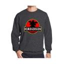 Mens Popular Letter DEMOGORGON Printed Round Neck Long Sleeve Fitted Sweatshirt