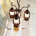 Coastal Lantern Ceiling Chandelier Pendant Iron 3 Light Ceiling Chandelier for Kitchen Dining