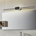 Minimalist Slim Wall Lighting Metal Integrated Led Indoor Vanity Light for Bathroom