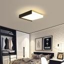 Modern Simple Square Flush Light Acrylic LED Black/White Flush Mount Suction Lamp