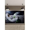 Moon Space Astronaut Beer Painting Wall Decor Art Canvas for Living Room 60*100cm