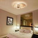 Loops Flush Ceiling Light Minimalist Acrylic Led Ceiling Flush Mount Light for Bedroom