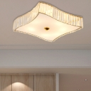 Contemporary Crystal Flush Mount Ceiling Light Acrylic Metal Close to Ceiling light in Gold