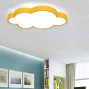 Cloud Flush Ceiling Lights Contemporary Acrylic and Iron 1 Light Flush Mount Fixture
