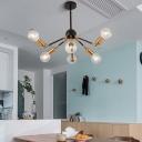 Metal Sputnik Chandelier Lighting Arm Adjustable Modern Brass Hanging Pendant Light