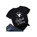 Schrute Farms Graphic Printed Round Neck Short Sleeve Casual Loose Tee
