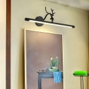 Black Deer Antler Sconce Wall Light Modern Metal Acrylic Unique Sconces in Neutral for Vanity