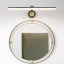 Brass/Black Linear Wall Light Fixtures Modern Metal Acrylic Sconce Wall Lamp for Bedroom Bathroom
