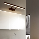 Black/Chrome Linear Wall Sconce Modern Acrylic Extendable Wall Lights with White/Warm Lighting