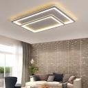 Gray Acrylic Flush Lighting Contemporary Integrated Led Flush Mount Light for Bedroom
