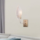 Brass Finish Sconce Light Modern Glass and Crystal Wall Sconce Light Fixture for Bedroom