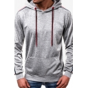 Men's New Arrival Striped Long Sleeve Casual Hiphop Style Pullover Drawstring Hoodie