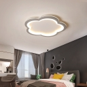Gray/White Blossom Ceiling Mounted Lights Nordic LED Acrylic Flushmount Light for Bedroom