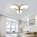 3/4 Head Petal Flushmount Light Fixture Modern Acrylic Shade LED Ceiling Flush for Hotel