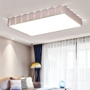 Rose Gold Square/Rectangle Flush Light Fixtures LED Contemporary Acrylic Ceiling Mounted Lights