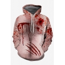 3D Blood Printed Unisex Pullover Loose Relaxed Hoodie