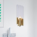 1 Light Creative Tube Sconce Wall Lights Contemporary Glass and Metal Wall Mounted Lights for Indoor